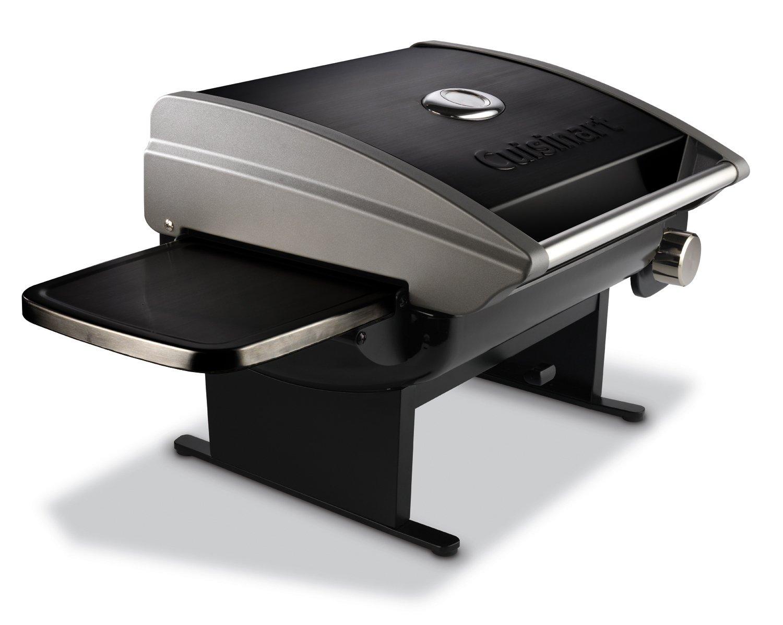 Cuisinart CGG-200B Portable Outdoor Tabletop Propane Gas Grill, 12000 BTU, Black
