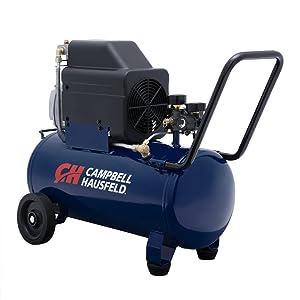 Campbell Hausfeld Air Compressor, 8-Gallon Horizontal Oil-Lubricated 3.7CFM 1.3HP 120V 10A 1PH (HL540100AV) (Tamaño: 8 gallon)