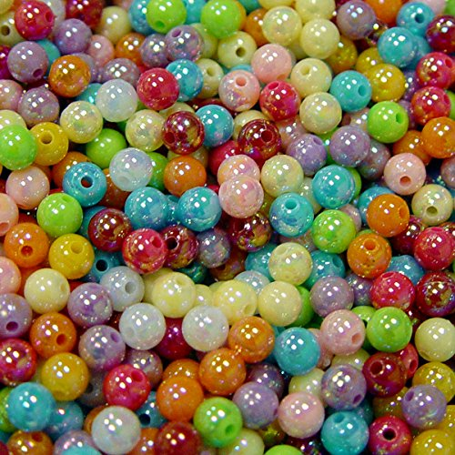 1000pc Wholesale Round 6mm Beads AB Multi Color crafts kandi jewelry necklace bracelet rave project beads