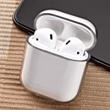 Airpods Case, Earphone Protective Case Cover, Glossy Anti-dust Hard Case Cover Protector for AirPods Charging Case 2 & 1- Transparent (Color: Transparent)