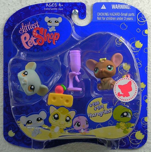 Buy Low Price Hasbro Littlest Pet Shop Assortment 'B' Series 3 Collectible Figure Mouse and Rat (B0029N1U0A)