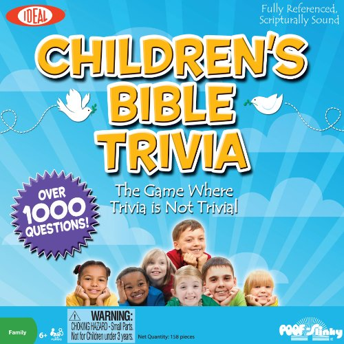 POOF-Slinky 0C911 Ideal Children's Bible Trivia Game