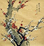 Plum Blossom - Original Chinese Flower Artwork - Traditional Oriental Watercolor Painting - Asian Fine Art