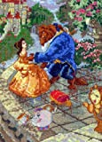 MCG Textiles 52555 Piece Disney Dreams collection Beauty and the Beast Vignette Counted Cross Stitch Kit Item, Multi-Colored