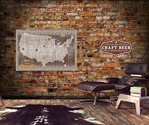 United States USA US Magentic Beer Cap Map Craf