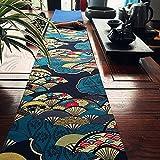 テーブルランナー 和風 リネン 花柄 インテリア 飾り付け テーブルマット (180x 20cm)