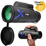 Lifella High Definition Monocular Telescope, 12X50 High Power Waterproof Monocular, BAK4 Prism FMC for Wildlife Bird Watching, Hunting, Climbing, Birdwatching, Camping, Travelling