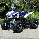 Kinder Elektro Quad S-14 Speedy 1000 Watt Miniquad Metallic blau