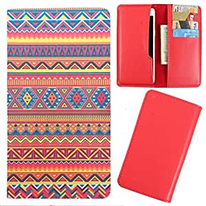 DooDa - For iBall Andi 3.5K KE+ PU Leather Designer Fashionable Fancy Case Cover Pouch With Card & Cash Slots & Smooth Inner Velvet