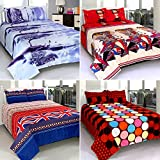 Wonder Home Collection Polycotton 4 Double Bedsheets with 8 Pillow Covers - Floral, Multi Color