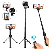 Selfie Stick Tripod,45 Inch Extendable Selfie Stick Tripod with Wireless Remote Controlï¼?Compatible with iPhone 6 7 8 X Plus,Samsung Galaxy S9 N