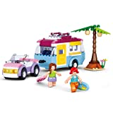 Sluban M38-B0606 Pink Dream Series Blocks Holiday Bricks Toy (272 Piece), Beach Vacation (Tamaño: Beach Vacation)