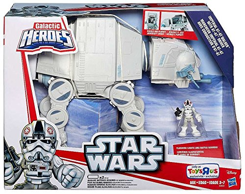 Star Wars, Galactic Heroes, Exclusive Imperial AT-AT Walker with AT-AT Driver Action Figure (At At Toy compare prices)