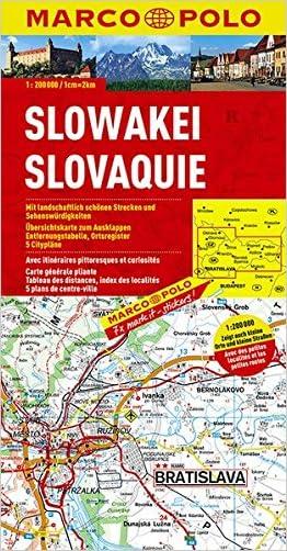 Slovakia Marco Polo Map (Marco Polo Maps)