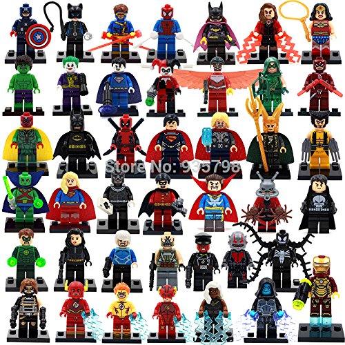 42pcs/lot Avengers Marvel MiniFigures Toy Super Heroes Series Action Figure Building Blocks Set Compatible Lego