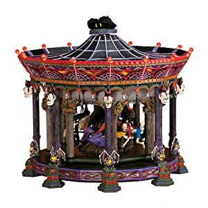 Amazon Com Department 56 Ghostly Carousel Snow Village