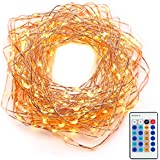String Lights Christmas Lights Fairy Lights Led Lights Xmas Lights (120LEDs,39ft,Copper Wire,Remote Control) Dimmable...