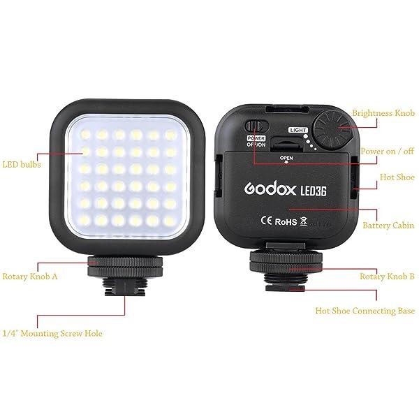 GODOX LED36 VIDEO LIGHT 36 LUCES LED PARA VIDEOCÁMARA DSLR MINI DVR DT V7W4
