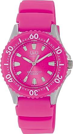 CITIZEN★♪Q&Q★♪腕時計 スポーツタイプ アナログ表示 10気圧防水 ピンク W368-312