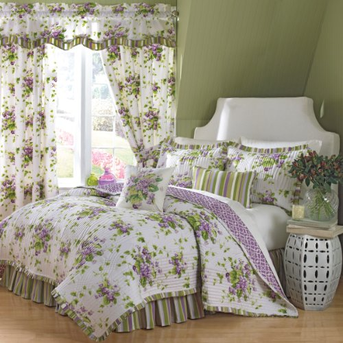 Waverly Sweet Violets 4-Piece Quilt Set, King front-978698