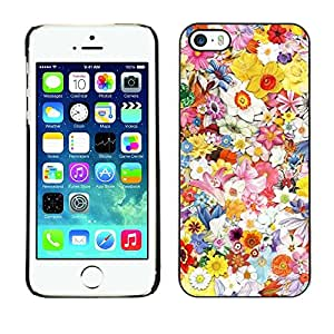 Omega Covers - Snap on Hard Back Case Cover Shell FOR Apple iPhone 5 / 5S - Spring Floral Art Pattern Field Summer