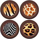 Silicone Coasters and Glass Charms - Safari