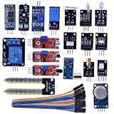 Kuman Arduino センサーキット センサーモジュール 電子部品 20-in-1 DIY Arduino用センサー hc06 初心者 実験用 Arduinoに適用 Mega2560 Mega328 Nano KY63