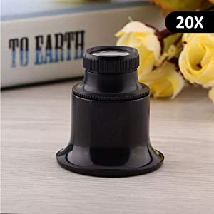 Magnifying Glass, 10 x /15x /20x Eye Magnifier Loupe for Repair Watch Magnifying Glass (3) (Color: 3)