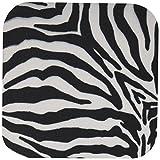 Patricia Sanders Black and White Zebra Print II Coaster, Soft, Set of 4