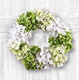 Springtime Hydrangea Door Wreath