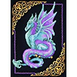 Janlynn Cross Stitch Kit, 15-Inch by 11-Inch, Mythical Dragon Picture ~ Janlynn
