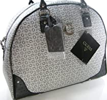 Guess G Logo Carry On Luggage Overnight Tote Purse Bag Black Gray Shaler
