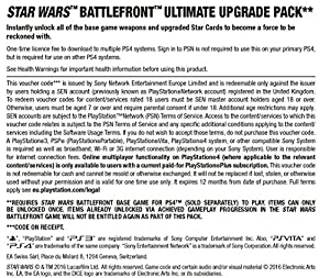 STAR WARS Battlefront Ultimate Upgrade Pack DLC [PS4 PSN Code - UK account] by Electronic Arts