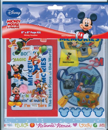 Ek Success Disney DMPK5 Disney Vacation 8-by-8 Page Kit