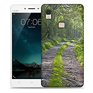 Snoogg Abstract Pathway Designer Protective Phone Back Case Cover For Vivo V3 Max