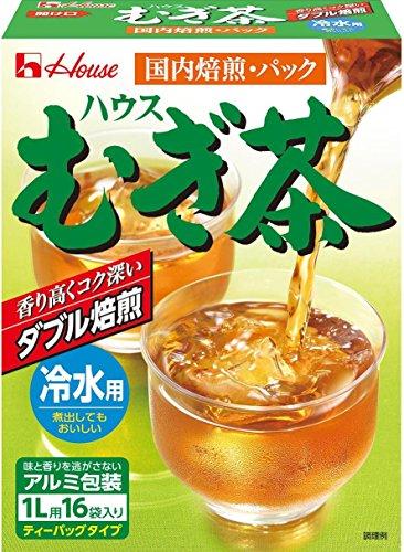ハウス むぎ茶(冷水用)N 16P×5個
