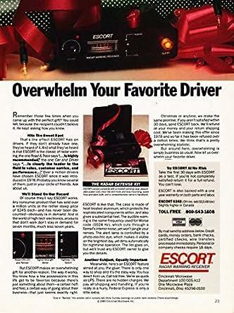 Escort radar warning receiver