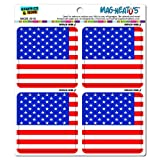 America USA Flag United States MAG-NEATO'S(TM) Automotive Car Refrigerator Locker Vinyl Magnet Set