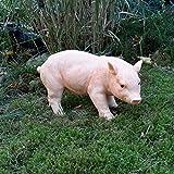 Gartendeko Gartenfigur Schweinchen Ferkel Wutz Schwein Bauernhof Deko