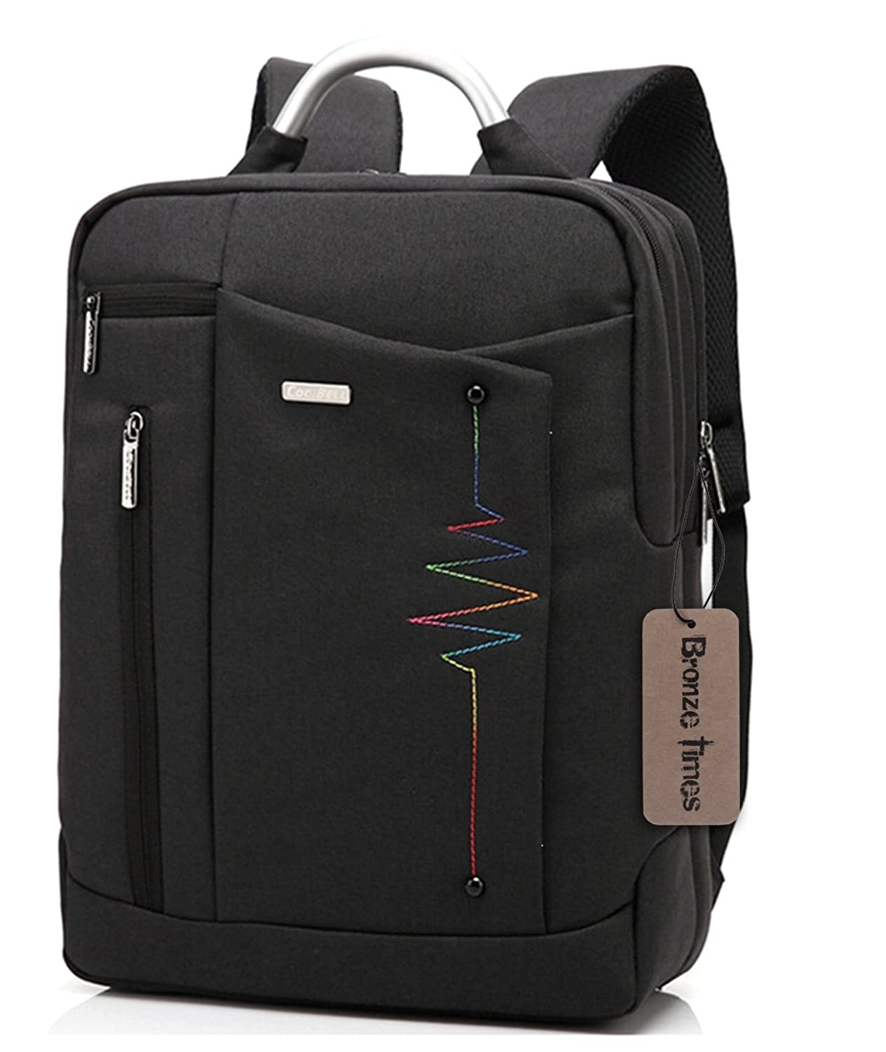 Bronze Times (TM) Premium Shockproof Canvas Laptop Backpack Travel Bag