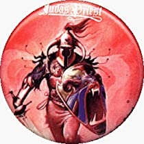 Judas Priest - Hero, Hero - AUTHENTIC 1980's RETRO VINTAGE 1.25&quot; Button / Pin