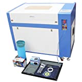 TEN-HIGH CO2 Engraving Machine, Offline Version 60W 400x600mm Laser Engraving Machine, Upgraded Version Front-Rear Double Door, with Exhaust Fan USB Port (Color: Upgrade type 460 (400x600mm), Tamaño: 60W)