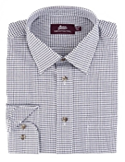 Pure Cotton Gingham Checked Twill Shirt