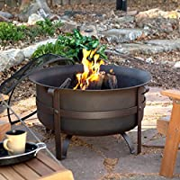 Red Ember Brockton Steel Cauldron Fire Pit