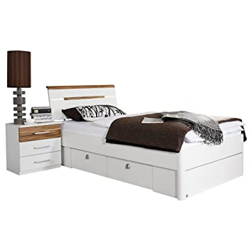 rauch funktionsbett marsala wei walnussfarben wei walnussfarben. Black Bedroom Furniture Sets. Home Design Ideas