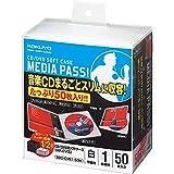 コクヨ CD/DVD用ソフトケース MEDIA PASS 1枚収容 50枚 白 EDC-CME1-50W