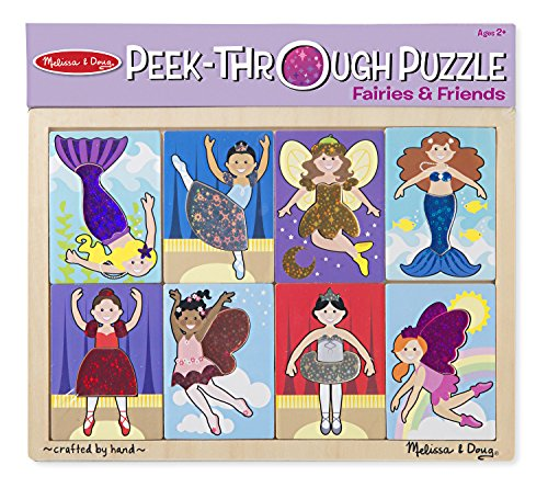 Melissa & Doug Peek-Through Puzzle - Fairies and Friends