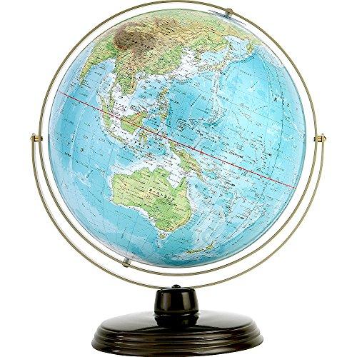 渡辺教具製作所 WA 卓上地球儀(地勢) W-3102(スチール台) 球径32cm地球儀