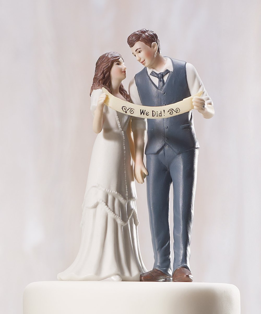 """Indie Style"" Wedding Couple Figurine 0"