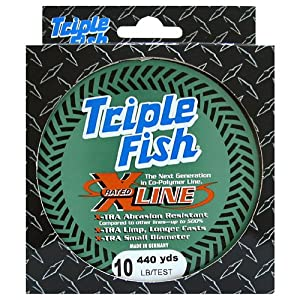 Triple Fish Xrated Co-Polymer Line Size: Filler Spool; Test: 25 pound